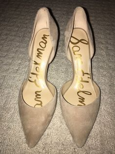 a84a3e80a4bd sam edelman 7.5d orsay pump nude suede  fashion  clothing  shoes   accessories  womensshoes  heels (ebay link)