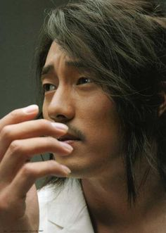 so ji sub with long hair....I've just lost it...all of it .. heart soul and mind