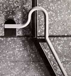 Franco Albini handle for the stairs of the Metro in Milan, c. Staircase Handrail, Stair Railing, Banisters, Milan, Steel Frame House, Stair Detail, Stairway To Heaven, Brick And Stone, Stairways