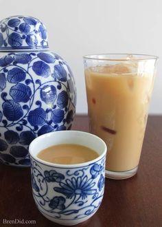 BrenDid Hong Kong Style MIlk Tea Recipe http://brendid.com/hong-kong-style-milk-tea-and-yuanyang/
