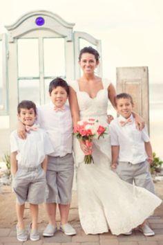 Beach wedding ring bearers
