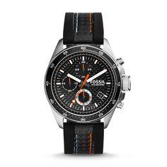 Sporty yet sleek: Decker Chronograph Black Silicone Watch