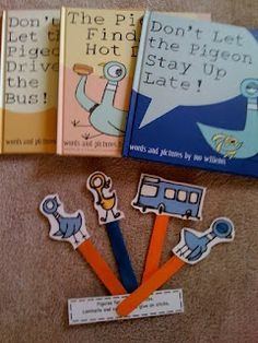 The Pigeon Printables from Preschool Printables.LOTS of great free printables on this site mo willems Preschool Books, Preschool Printables, Kindergarten Literacy, Early Literacy, Literacy Activities, Free Printables, Preschool Projects, Pigeon Books, Library Lessons