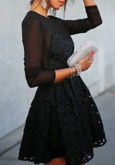 Illusion Neckline Lace Dress
