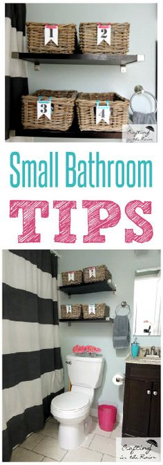 Small Bathroom Ideas | Crafting in the Rain #organization #bathroomdecor