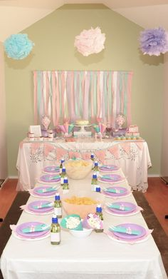 pink, teal and purple birthday