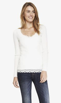 FITTED V-NECK SWEATER | Express