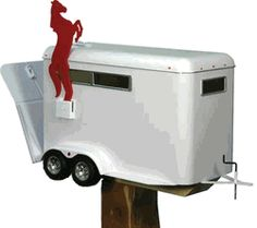 Housewarming gifts:River's Edge Horse Trailer Mailbox with Tamper Proof Mounting Hardware Funny Mailboxes, Unique Mailboxes, Security Mailbox, You've Got Mail, Valentine Box, Valentine Crafts, Western Decor, Western Chic, Country Decor