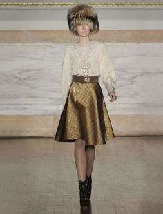 Alice Temperley's Imperial Russian inspired collection: heavy brocade and delicate lace