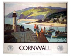 Vintage Travel Poster - UK - Cornwall - Railway