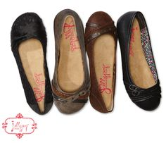 Jellypop flats are perfect for all day wear! They have a memory foam insole for added comfort and can easily be paired with any outfit.