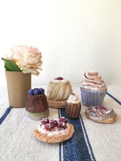 cupcakes, made of terracotta, hand painted. #cupcakes #ceramic #handmade #terracotta #homedecor