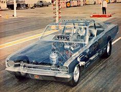 See-through V8 Funny Car