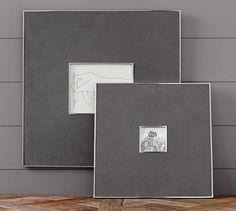 Gray Linen & Silver Frames   Pottery Barn