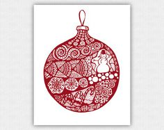 INSTANT DOWNLOAD  Printable Art Print   Christmas by Anabel27Art