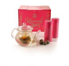 Blooming Zen Tea Gift Set- watching the beautiful tea balls unfurl is wonderful, they taste wonderful, too!