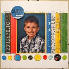 very cute for a school pic... would also be cute making all of the rulers different school books for older kids...