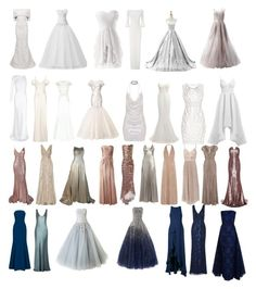 """""""Gowns VII"""" by capfan2014 on Polyvore featuring Carolina Herrera, Roland Mouret, Reception, Reem Acra, The 2nd Skin Co., Ghost, Patricia Bonaldi, Mikael D, Elle Zeitoune and Hervé Léger"""