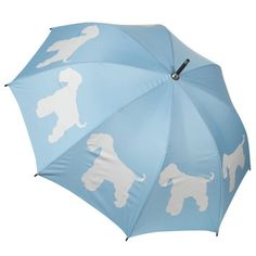Terrier Umbrella Blue White,  now featured on Fab.
