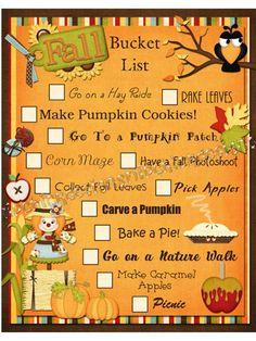FlipChick Designs: Fall Bucket List using Happy Fall Y'all Halloween Bucket List, Halloween Buckets, Fall Halloween, Halloween Ideas, Halloween Things To Do, Halloween Images, Halloween Pumpkins, Herbst Bucket List, Image Deco