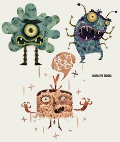 Alberto Cerriteño #characters #illustration #monsters | OLDSKULL.NET