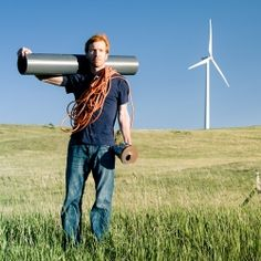 Home made wind turbine - built with locally sourced materials. Put one together in a weekend and enjoy some clean energy.