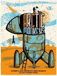 Arctic Monkeys chase superstardom on debut ACL taping - Austin City Limits Band Posters, Cool Posters, Music Posters, Arctic Monkeys Album Cover, Rock Y Metal, Monkey Art, Cute Patterns Wallpaper, Concert Posters, Alter