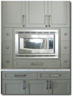 Gray Green Cabinet Paint Color Cottage kitchen Benjamin Moore Gettysburg Gray HC 107