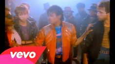 """Michael Jackson at his most epic-""""Beat It"""".  Note awesome guitar solo by Eddie Van Halen (as if you couldn't tell!).  Remember, """"Thriller"""" had sales of 23 MILLION copies at the time of MJ's death!"""