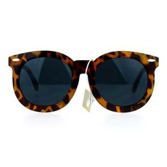 """OVERSIZED RETRO ROUND SUNGLASSES (TORTOISE) .::Product Desciption  -Size: 5 3/4"""" (146mm) x 2 3/8"""" (60mm)  .::Product Feature  -100% UVA & UVB Protection.  -Light weight polycarbonated lens  .:: Microfiber Bag Included Accessories Sunglasses"""
