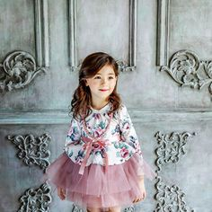 Spring Infant Toddler Baby Flower Girl Floral Tulle Dress kids Party Gown tutu Dresses with necklace-in Dresses from Mother & Kids on Aliexpress.com | Alibaba Group