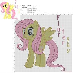 Fluttershy My Little Pony free cross stitch pattern big size 150 stitches