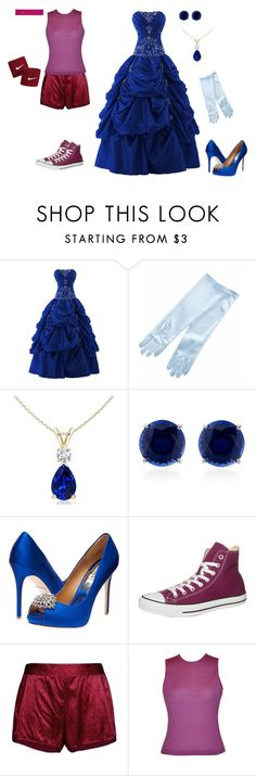 """""""Ruby and Sapphire-Steven Universe"""" by conquistadorofsorts ❤ liked on Polyvore featuring CARAT*, Badgley Mischka, Converse, STELLA McCARTNEY, Ralph Lauren and Victoria's Secret"""