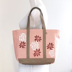 Medium pink orchid faux leather tote bag/ handpainted purse/ vegan handbag/ monogram tote. only $54. enter coupon code FREESHIP50 for free shippping
