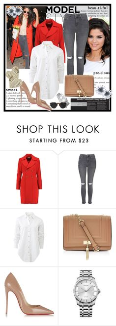 """Untitled #6"" by sabina-94-cxx ❤ liked on Polyvore featuring Diane Von Furstenberg, Topshop, rag & bone, Christian Louboutin, Calvin Klein and Christian Dior"