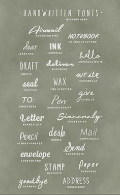Handwritten-Fonts
