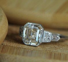 5ct 10k White Gold Engagement Ring Jewelry For Women Solid Asscher cut Ring Cz * #Inter #Solitaire