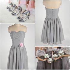 silver bridesmaid dresses for winter wedding