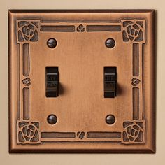 Rose Copper Switchplate, Double by James Mattson.  LOVE!!