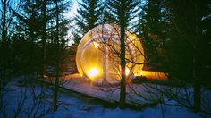 Sleep in a clear bubble under the Northern Lights in Iceland!! 135€/night for 2