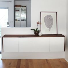 I love this Ikea Hacked DIY credenza for hiding all the junk lying around in your house. (Image: Almost Makes Perfect)