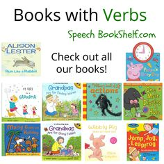 books with verbs for preschoolers. Pinned by SOS Inc. Resources. Follow all our boards at pinterest.com/sostherapy/ for therapy resources.