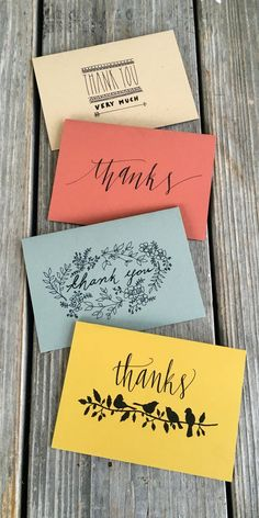 60 Best Thank You Cards Inspiration And Ideas Images