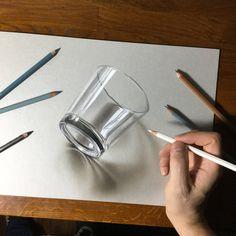 drawing pencil 3 d 3d Pencil Drawings, 3d Art Drawing, Colored Pencil Artwork, Paper Drawing, Cool Art Drawings, Realistic Drawings, Art Drawings Sketches, Painting & Drawing, 3d Pencil Art