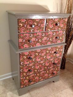 My First DYI Fabric Front Dresser!