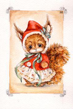 bears dolls toys watercolor postcards по мотивам работ Анны Волковой рисую на заказ открытки с вашими домашними любимцами