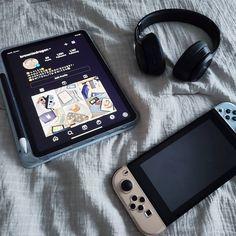 Aesthetic Indie, Blue Aesthetic, Nintendo Lite, Gamer Bedroom, Nintendo Switch Accessories, Mundo Dos Games, 1000 Followers, Gaming Room Setup, Cute Games