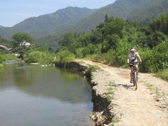 Biking in the rural area of Guilin