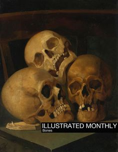 Henri Jan Augustyn Leys - Still life with three skulls, oil on paper, laid down on panel, x cm. Memento Mori, Still Life Drawing, Painting Still Life, Victorian Literature, Hipster Design, Skull Painting, Beginner Painting, A4 Poster, Vintage Artwork