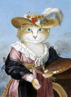 Self-Portrait of the Artist in a Straw Hat (Elisabeth Louise Vigée-Le Brun) by Susan Herbert